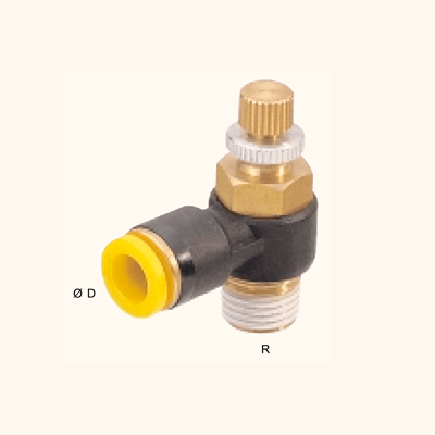 Controladora de fluxo PFC Angular Rosca Orientável - EASYLOK